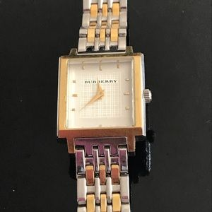Burberry watch silver and gold MUST SELL